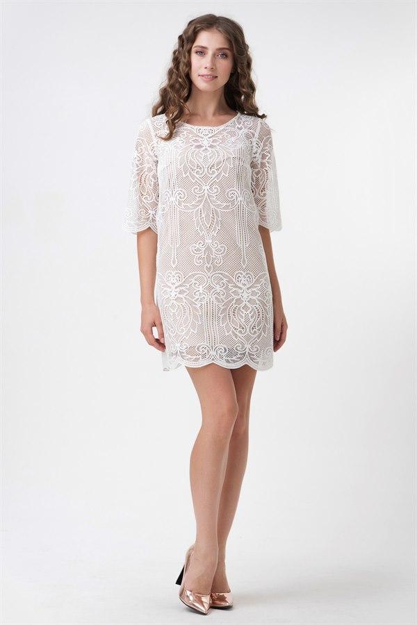 Цена Короткое платье из гипюра ТМ Рика Маре