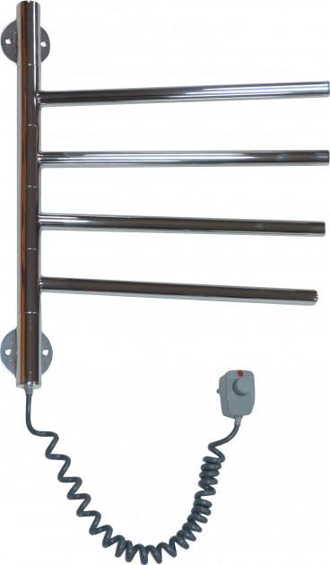 Цена Электрический Полотенцесушитель с нержавейки Вертикаль-4 с ручной регуляцией температуры (410х400х35)