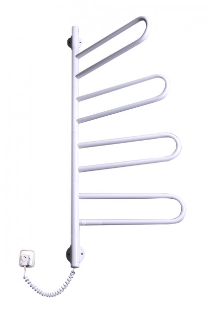 Цена Полотенцесушитель Флюгер-4 белый с крутящимися держателями и настройкой температуры нагрева (915х470х40)