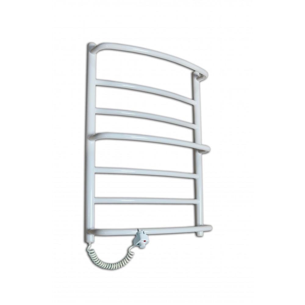 Электрический полотенцесушитель Каскад Mix-8 Белый с полками и регуляцией температуры (800х530х180) фото видео изображение
