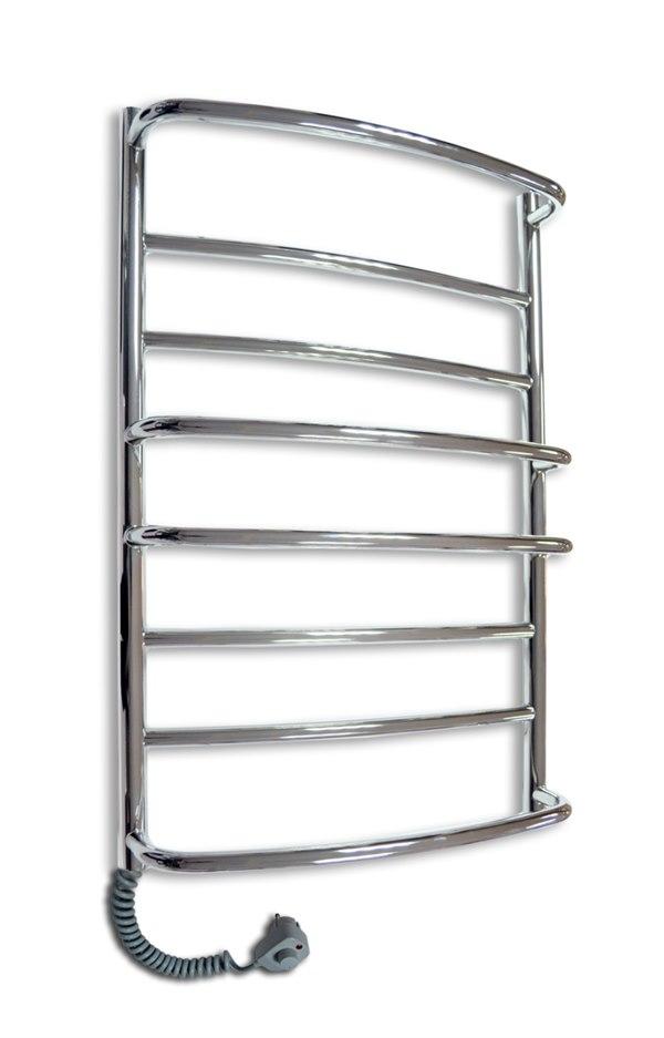 Купить Электрический полотенцесушитель Каскад Mix-8 Хромированный нержавеющая сталь стационарный с ручным управлением нагрева (800х530х цена