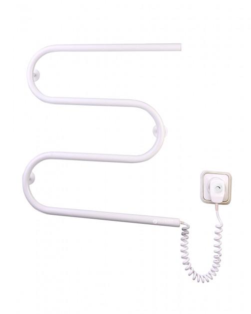 Электрический полотенцесушитель Змейка-М с регулятором температуры белый цвет (530х500х50)
