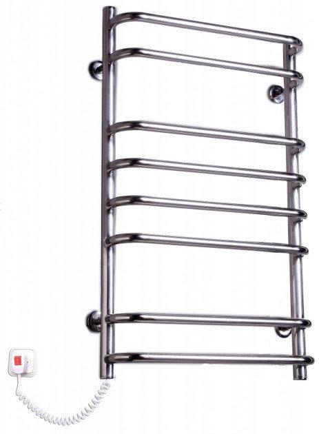 Электрополотенцесушитель Стандарт-8 нержавеющая сталь хромированный с торцевым управлением температурой (125х840х480) фото видео изображение