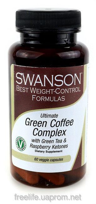 Цена Зеленый кофе, кетоны малины, зеленый чай таблетки для похудения из США