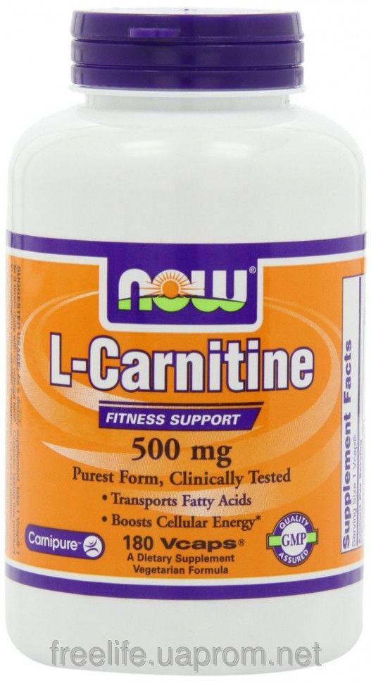 Жиросжигатель  L-карнитин, L-Carnitine Fitness Support 500mg (180 капсул) фото видео изображение