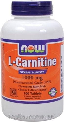 фото Жиросжигатель  L-карнитин, L-Carnitine 1000mg (100 таблеток&#041 видео отзывы