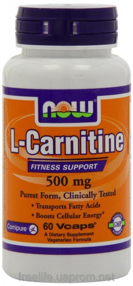 Жиросжигатель  L-карнитин, L-Carnitine Fitness Support 500mg (60 капсул) фото видео изображение