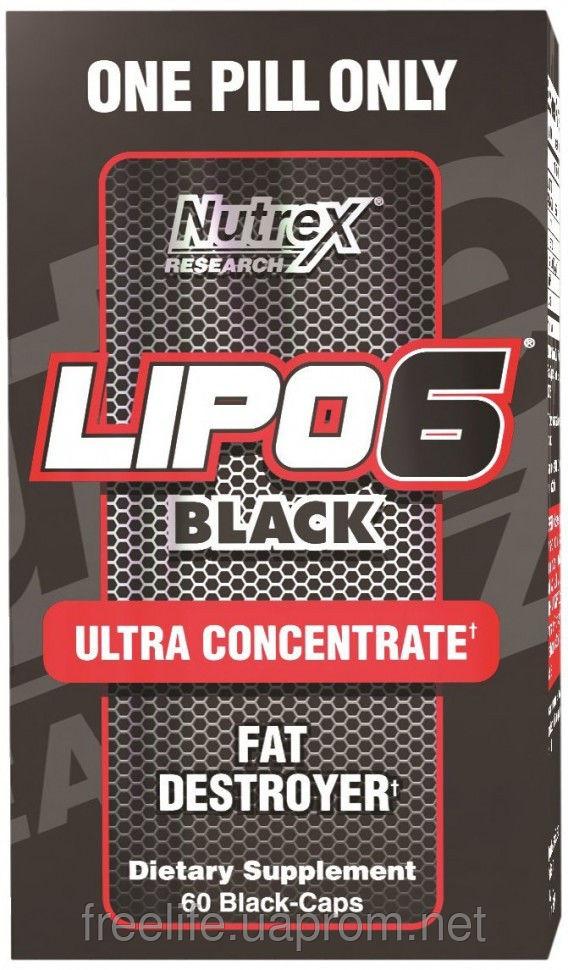 Жиросжигатель  Lipo-6 Black Ultra concentrate (60 капсул&#041 фото видео изображение