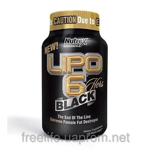 Купить Жиросжигатели для женщин, Lipo 6 Black Hers (120 капсул&#041 цена