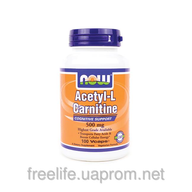 Ацетил-L-Карнитин (Acetyl-L Carnitine), 500 мг - 100 капсул фото видео изображение