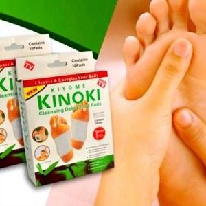 Пластырь Kinoki (Киноки) для очищения организма от токсинов, чистка организма в домашних условиях фото видео изображение