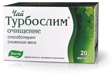 Цена Турбослим зелёный чай 20 пакетиков
