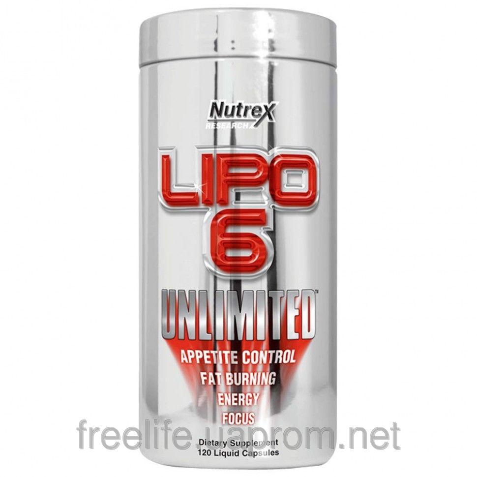 Жиросжигатель, Липо, Lipo-6 Unlimited (120 капсул) фото видео изображение