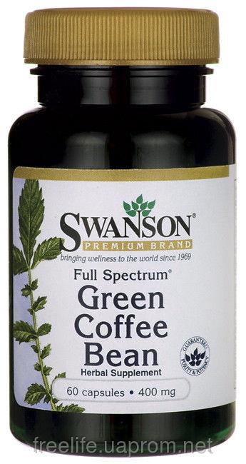 Зеленый кофе с имбирем капсулы для похудения, green coffe, ginger, оригинал из США