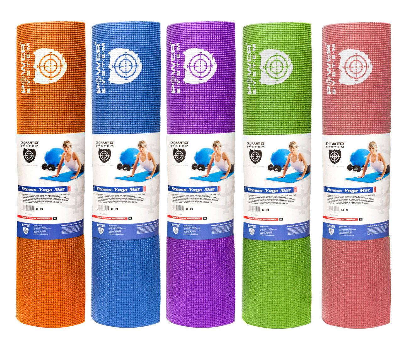 Коврик для йоги POWER SYSTEM PS - 4014 FITNESS-YOGA MAT фото видео изображение