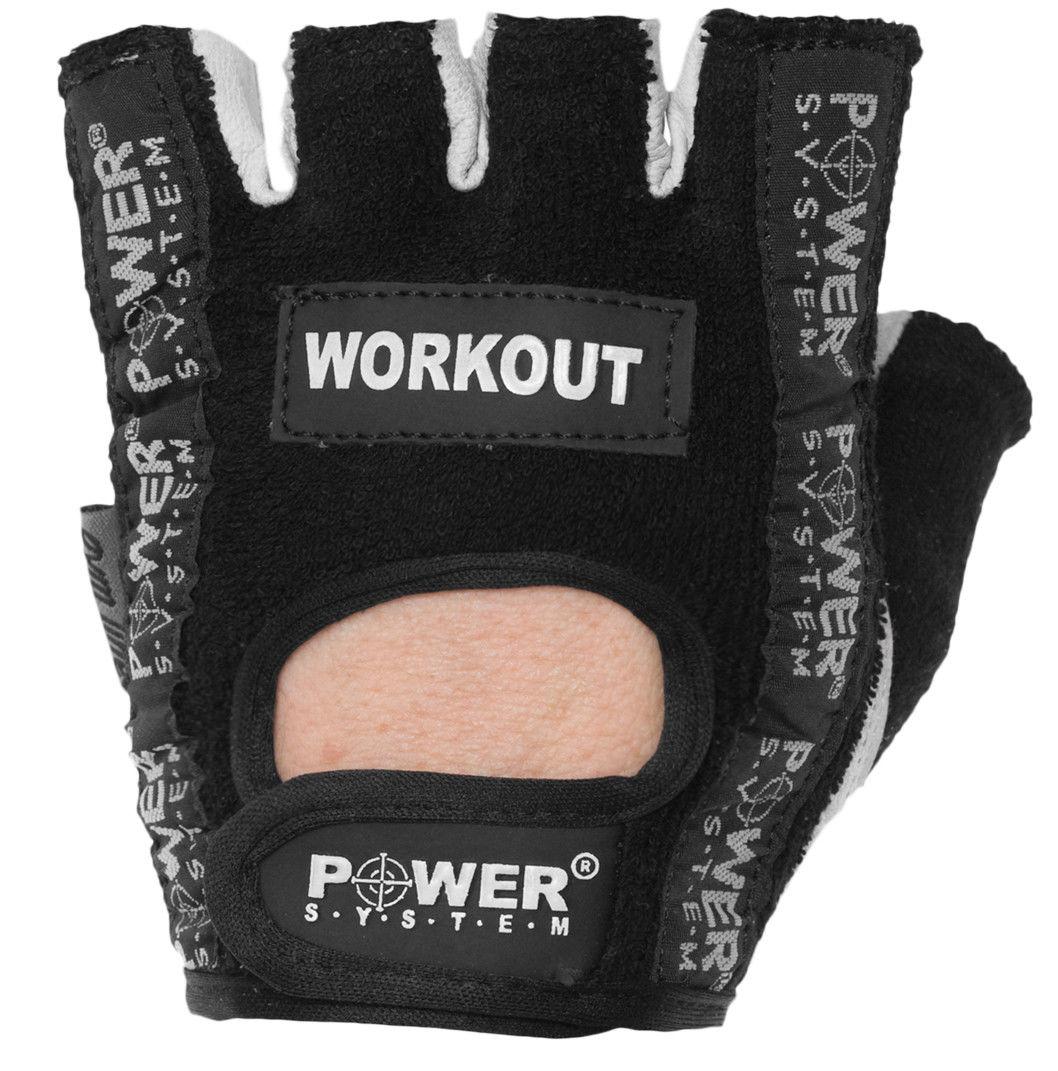 Перчатки Power System Workout PS-2200 M, Черный фото видео изображение