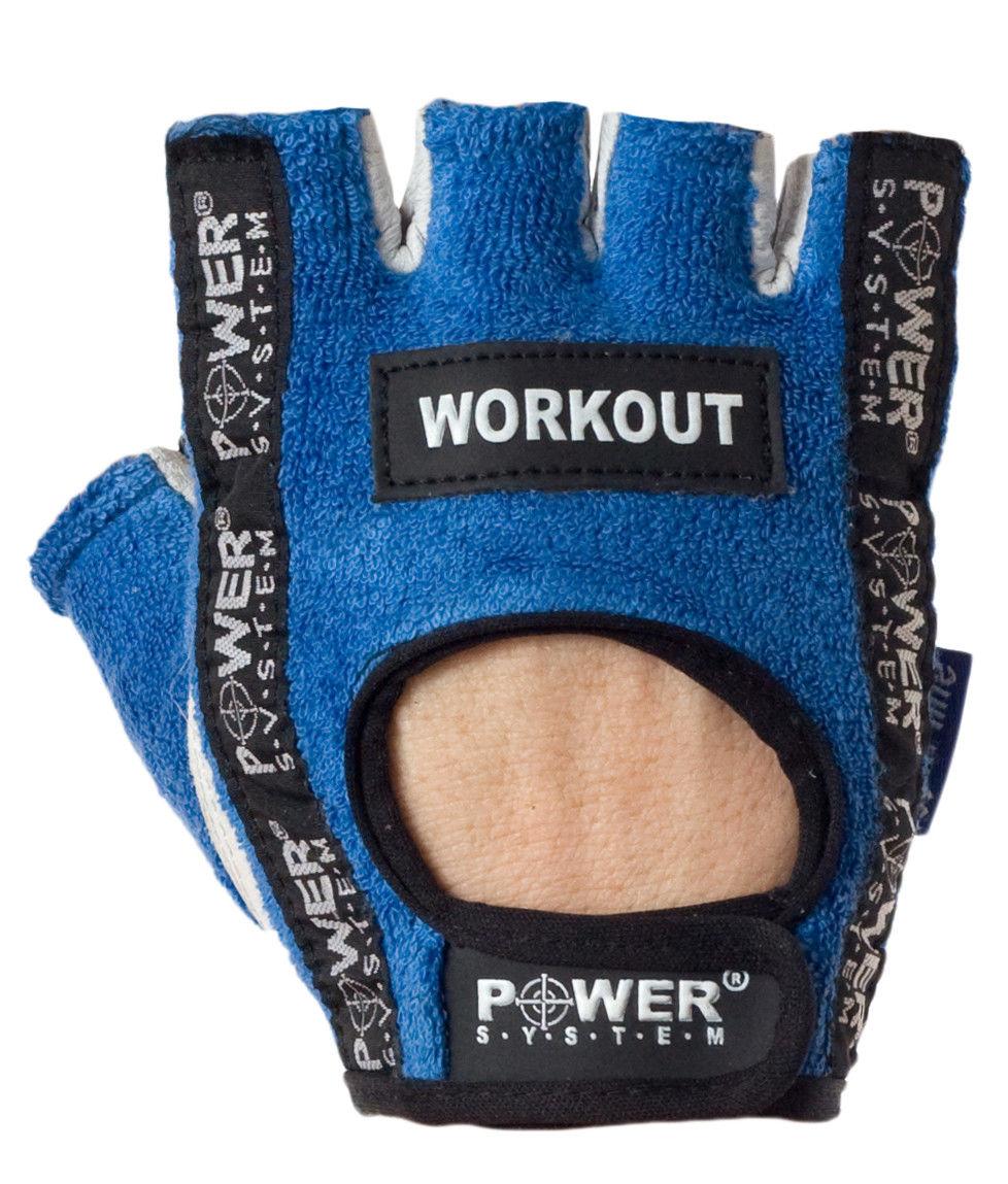Перчатки Power System Workout PS-2200 M, Синий фото видео изображение