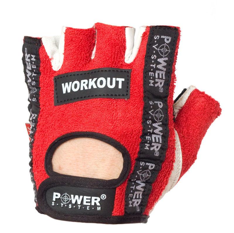 Перчатки Power System Workout PS-2200 S, Красный фото видео изображение