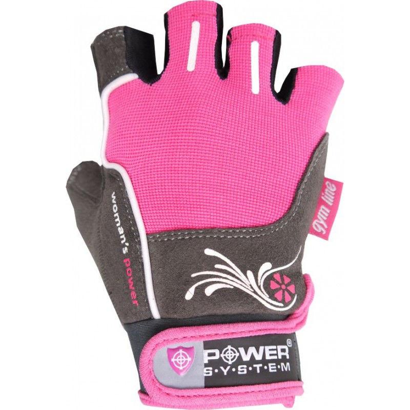 Перчатки Power System Woman's Power PS-2570 XS, Розовый фото видео изображение