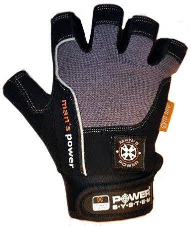 Перчатки Power System Man's Power PS-2580 S, Серый фото видео изображение