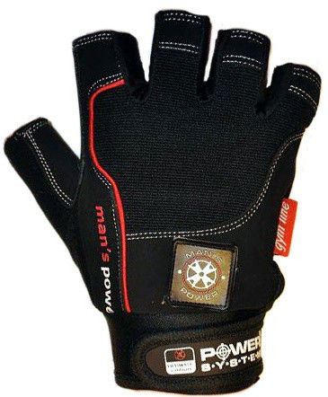 Перчатки Power System Man's Power PS-2580 XL, Черный фото видео изображение