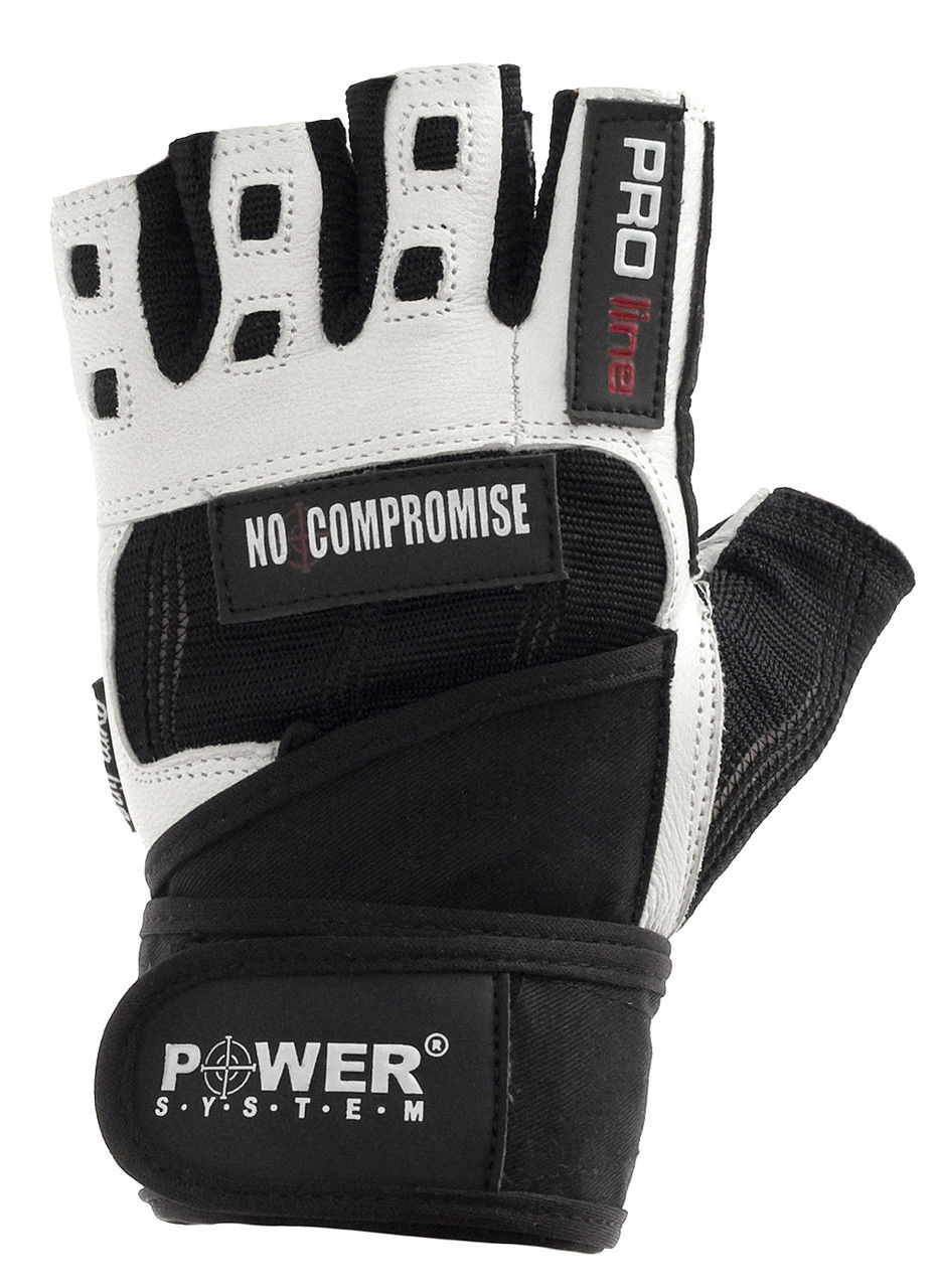 Перчатки Power System No Compromise PS-2700 XL, Черно-белый фото видео изображение