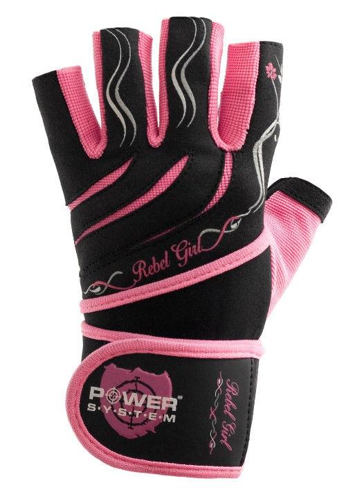 Перчатки Power System Rebel Girl PS-2720 L, Розовый фото видео изображение