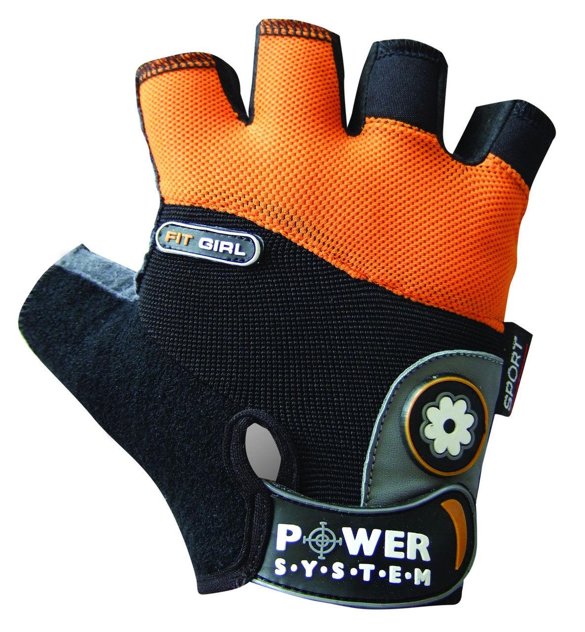 Перчатки Power System Fit Girl PS-2900 L, Оранжевый фото видео изображение