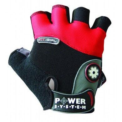 Перчатки Power System Fit Girl PS-2900 S, Красный фото видео изображение
