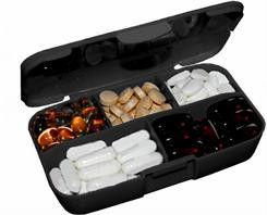 Цена Таблетница Buchsteiner Pill Box Черный