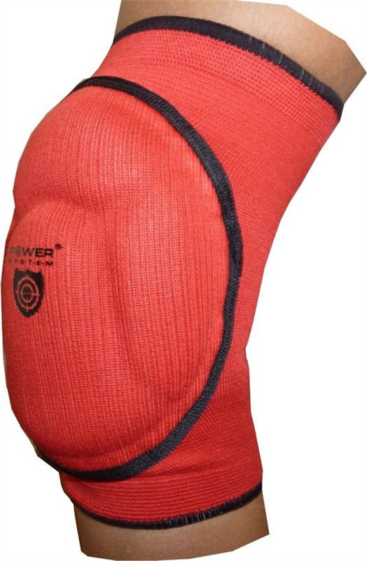 фото Наколенник Power System Elastic Knee Pad PS-6005 L, Красный видео отзывы