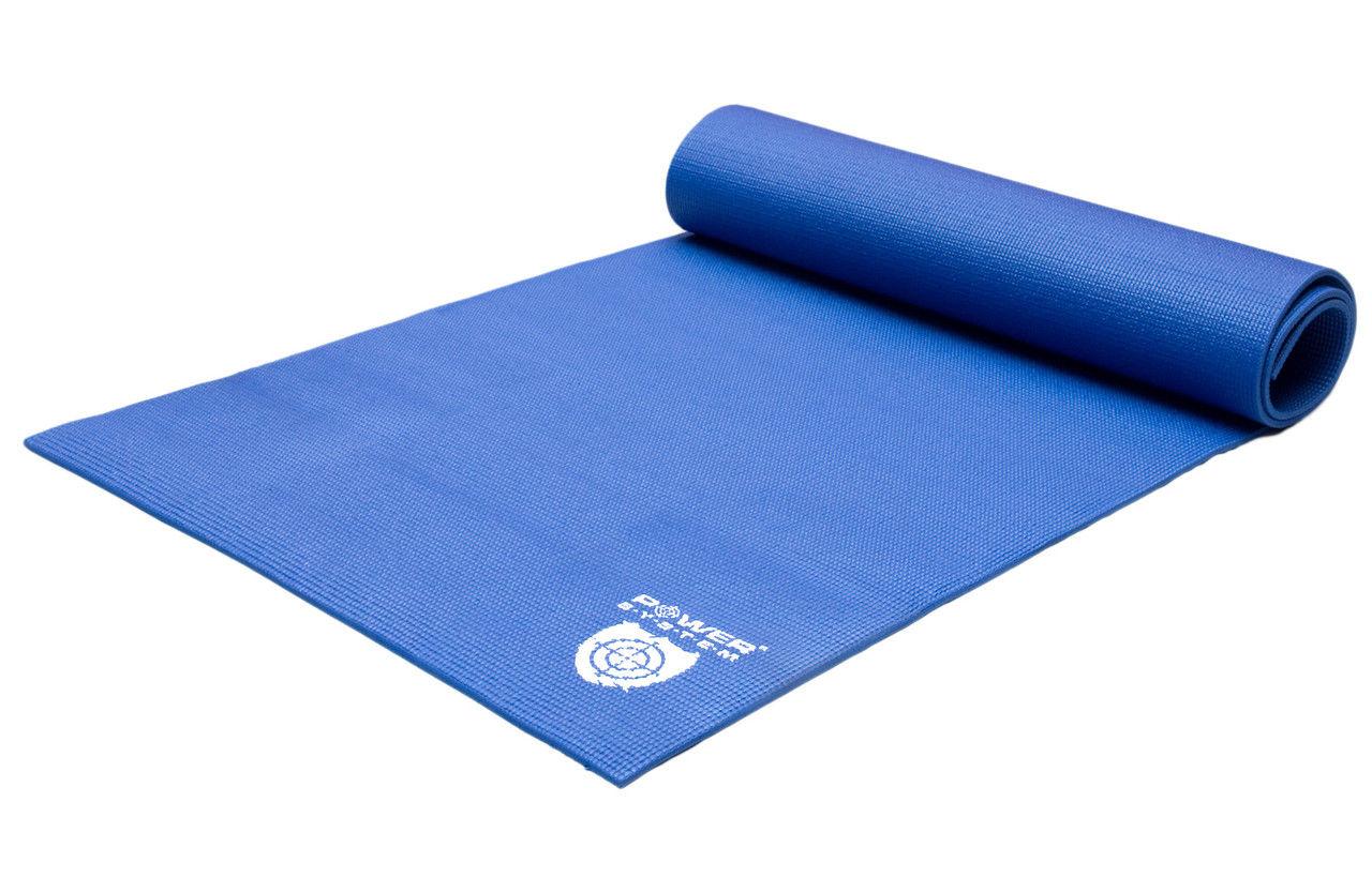 Коврик для йоги POWER SYSTEM PS - 4014 FITNESS-YOGA MAT  Синий фото видео изображение