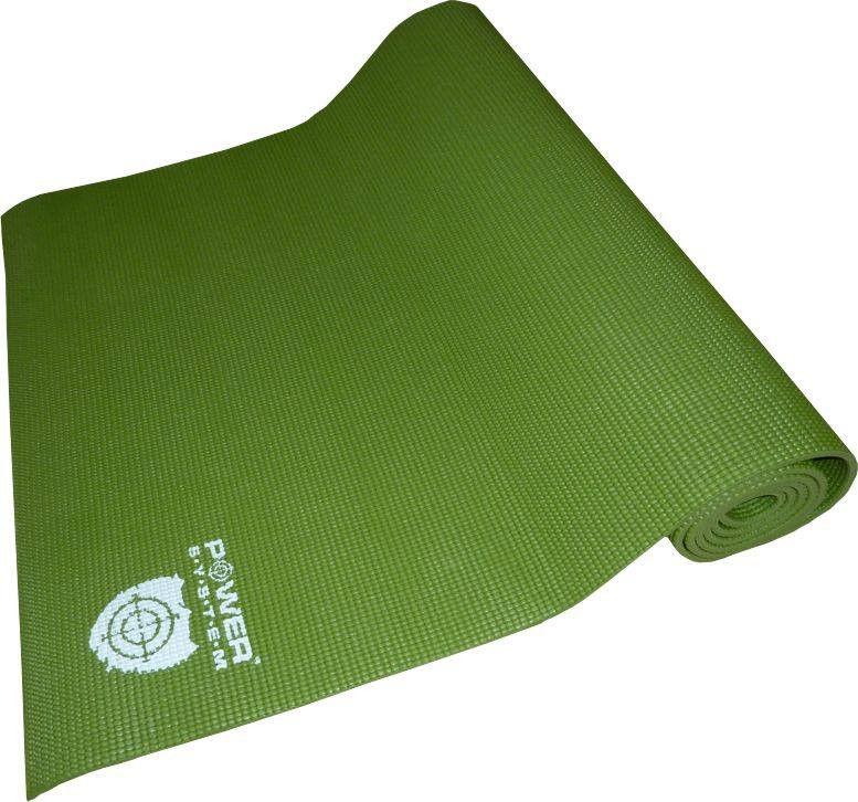 Коврик для йоги POWER SYSTEM PS - 4014 FITNESS-YOGA MAT  Зеленый фото видео изображение