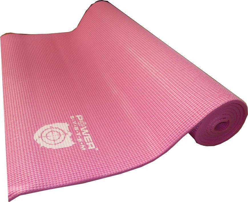 Коврик для йоги POWER SYSTEM PS - 4014 FITNESS-YOGA MAT  Розовый фото видео изображение