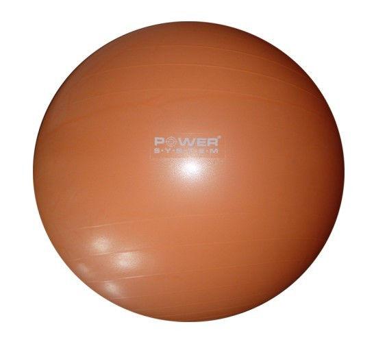 Мяч гимнастический POWER SYSTEM PS - 4011 55cm Оранжевый фото видео изображение