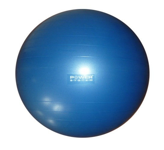 Мяч гимнастический POWER SYSTEM PS - 4018 85cm Синий фото видео изображение