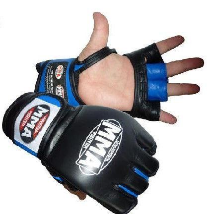 Перчатки Power System Katame MMA-006 L, Синий фото видео изображение