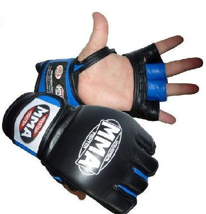 Перчатки Power System Katame MMA-006 XL, Синий фото видео изображение