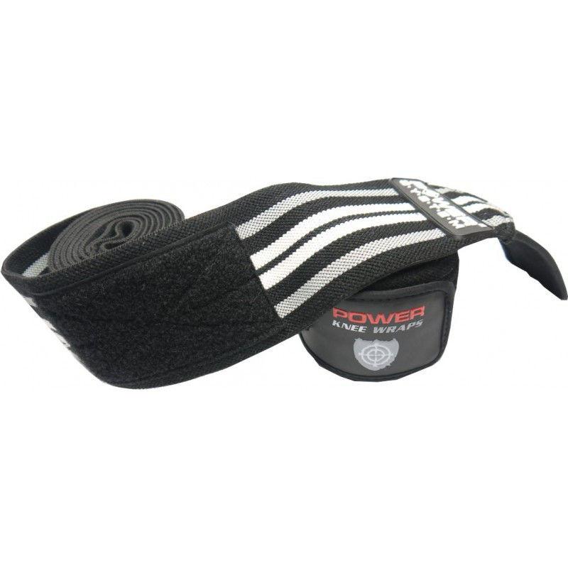 Бинты на колени Power System PS - 3700 Черно-серый фото видео изображение