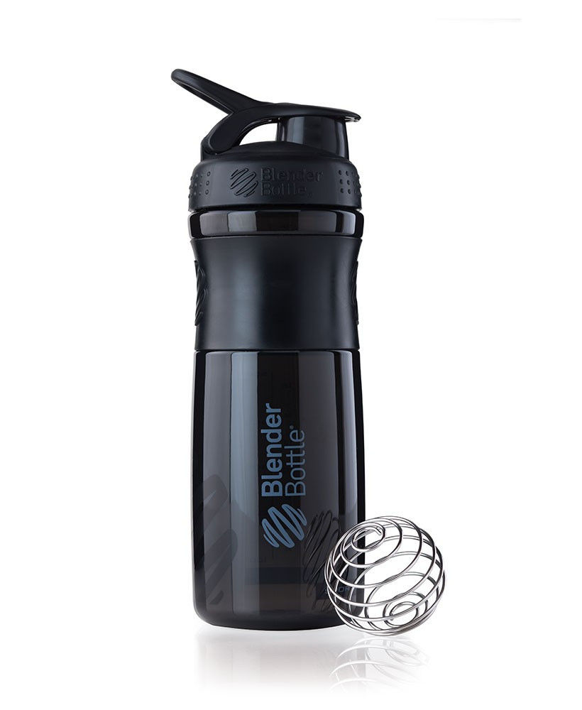 Шейкер спортивный BlenderBottle SportMixer 820ml (ORIGINAL) Black фото видео изображение