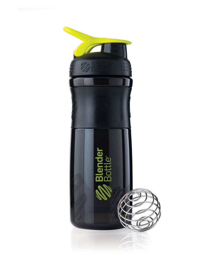 Шейкер спортивный BlenderBottle SportMixer 820ml (ORIGINAL) Black-Green фото видео изображение