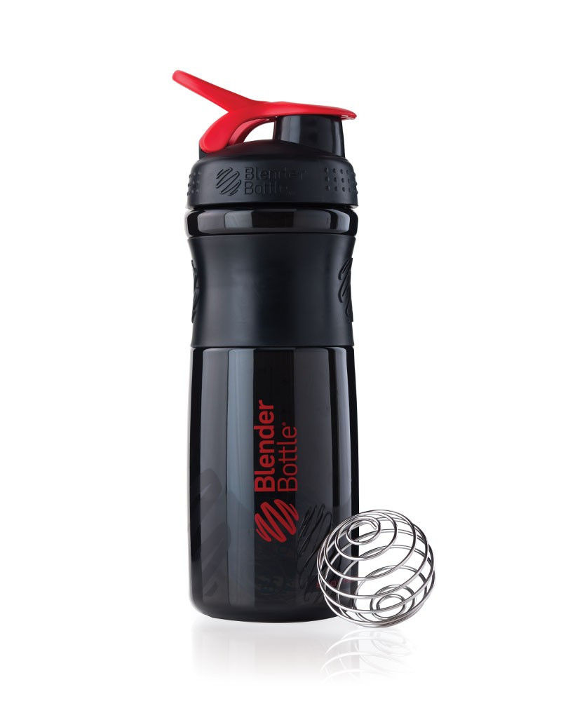 Шейкер спортивный BlenderBottle SportMixer 820ml (ORIGINAL) Black-Red фото видео изображение