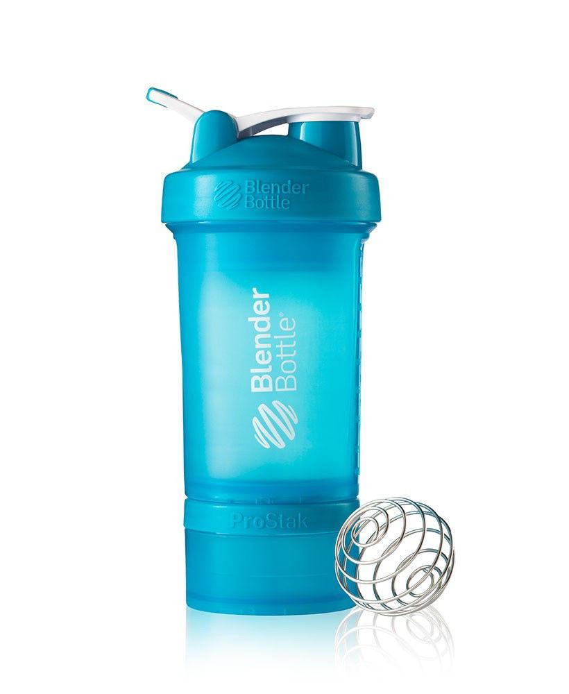 Шейкер спортивный BlenderBottle ProStak 650ml (ORIGINAL) Aqua фото видео изображение