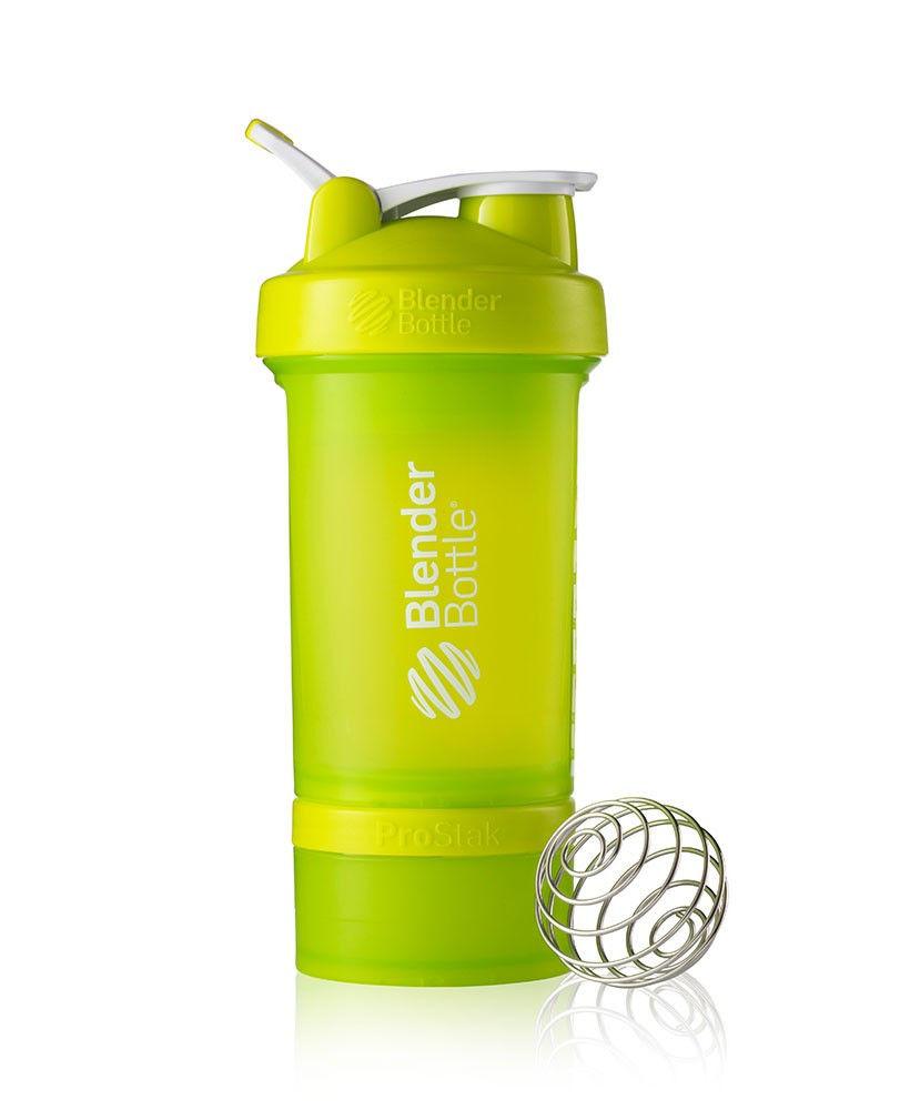 Шейкер спортивный BlenderBottle ProStak 650ml (ORIGINAL) Green фото видео изображение