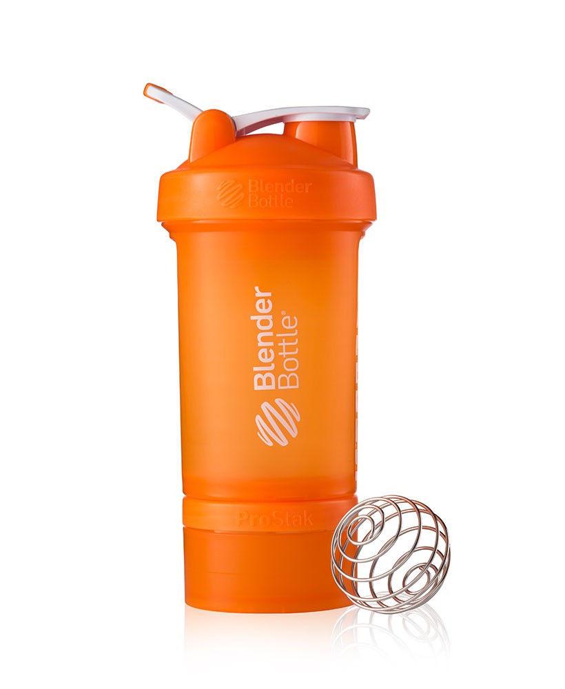 Шейкер спортивный BlenderBottle ProStak 650ml (ORIGINAL) Orange фото видео изображение