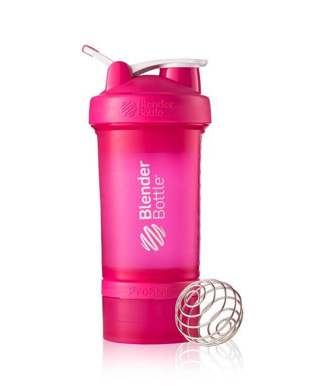 Шейкер спортивный BlenderBottle ProStak 650ml (ORIGINAL) Pink фото видео изображение