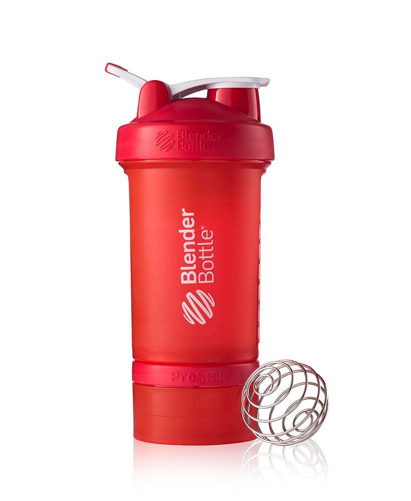 Шейкер спортивный BlenderBottle ProStak 650ml (ORIGINAL) Red фото видео изображение