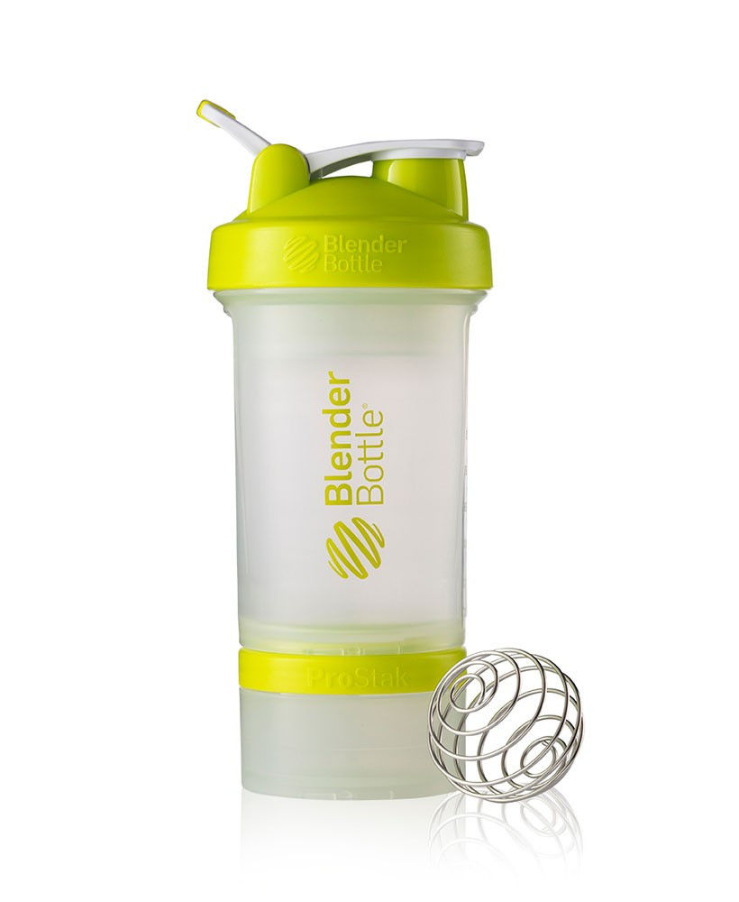 Шейкер спортивный BlenderBottle ProStak 650ml (ORIGINAL) Trans-Green фото видео изображение