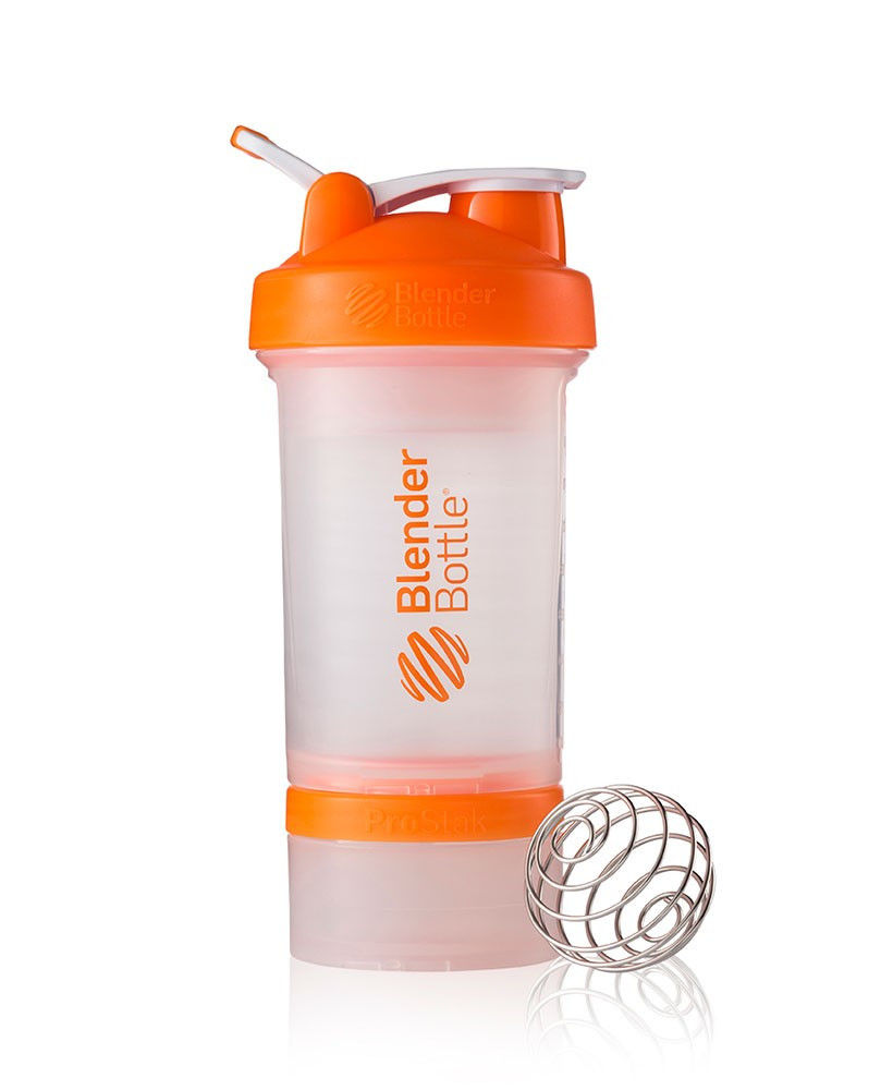 Шейкер спортивный BlenderBottle ProStak 650ml (ORIGINAL) Trans-Orange фото видео изображение