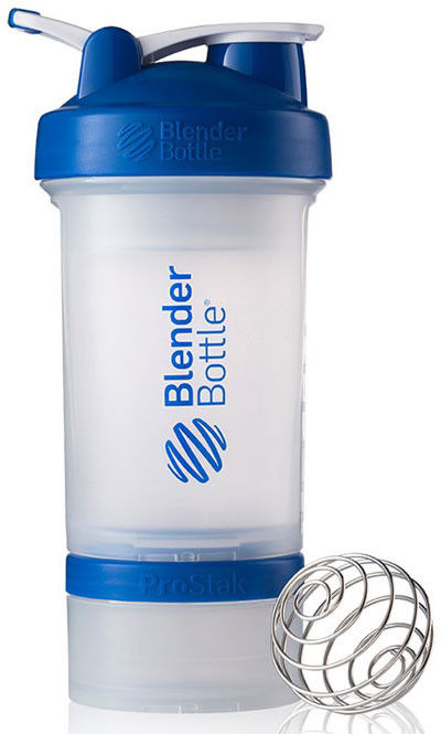 Шейкер спортивный BlenderBottle ProStak 650ml (ORIGINAL) Trans-Blue фото видео изображение